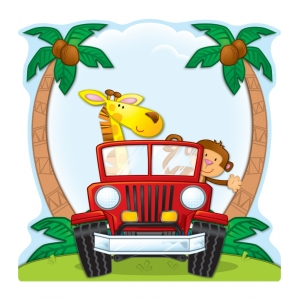 Jungle Safari Two-Sided Deco..