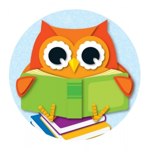 Reading Owl Two-Sided Decora..