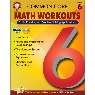 Common Core Math Workouts Book Gr. 6
