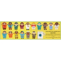 Multicultural Hats off community set of 16 puppe..