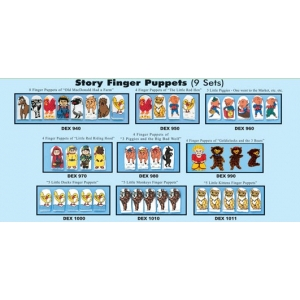 9-pc Finger Puppets set-Story