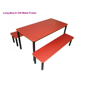 Wooden Long Bench 48 in w/ m..