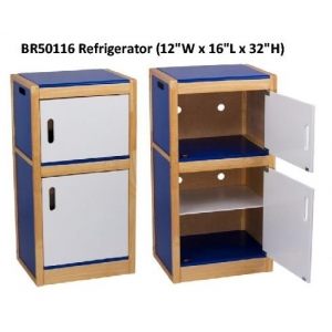 Wooden Kitchen Set - Refrige..