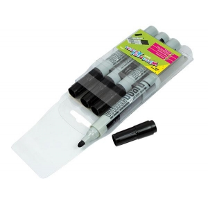 Whiteboard Markers Black Pac..