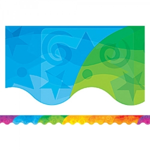 Abstract Rainbow Scalloped B..