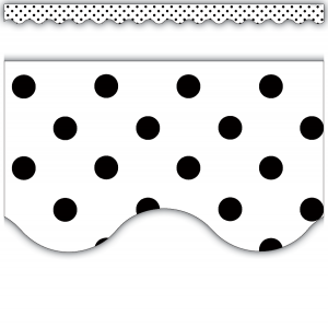 Black Polka Dots On White Sc..