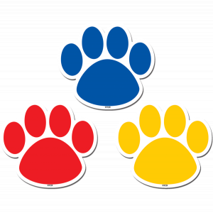 Colorful Paw Prints Magnetic..