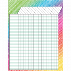 [TCR chart] Colorful Scribble Incentive Chart