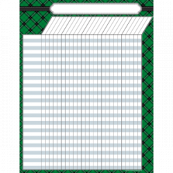 [TCR chart] Green Plaid Incentive Chart