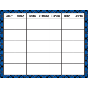 [TCR chart] Blue Plaid Calen..