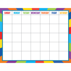 [TCR chart] Playful Patterns Calendar Chart