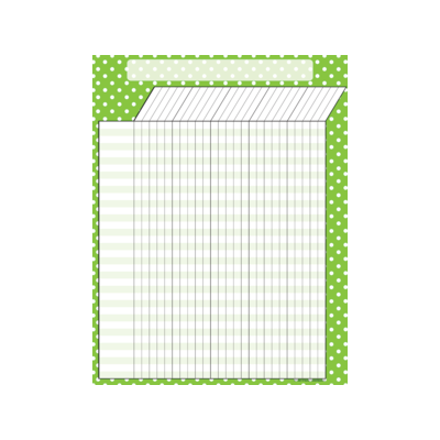 [TCR chart] Lime Polka Dots Incentive Chart