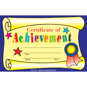 Certificate of Achievement A..