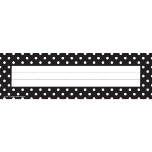 Black Polka Dots Flat Name P..