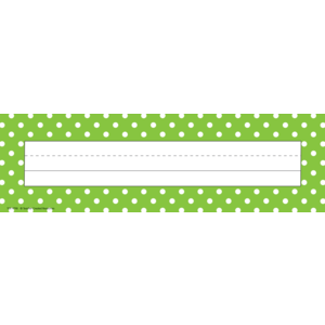 Lime Polka Dots Flat Name Pl..