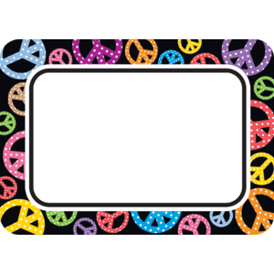 Peace Signs Name Tags/Labels