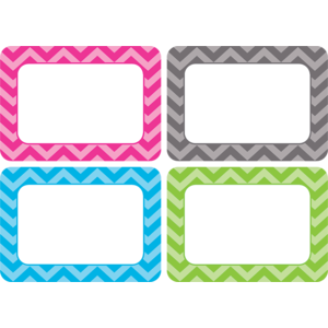 Chevron Name Tags/Labels - M..