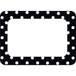 Black Polka Dots 2 Name Tags..