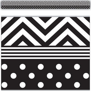 Black & White Chevrons and D..