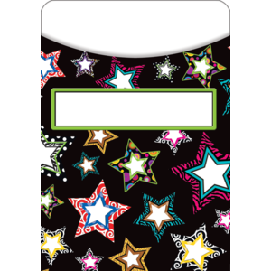 Fancy Stars Library Pockets