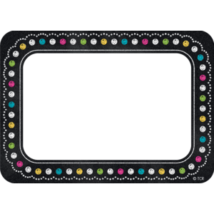 Chalkboard Brights Name Tags..