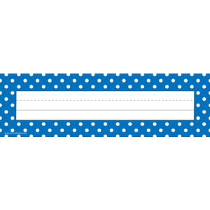 Blue Polka Dots Flat Name Pl..