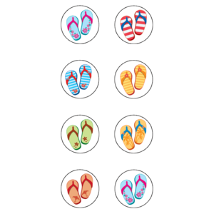Flip Flops Mini Stickers