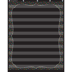 Chalkboard Brights 10 Pocket..
