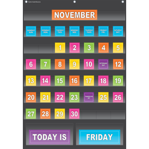 Black Calendar Pocket Chart ..