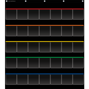Black Storage Pocket Chart [..
