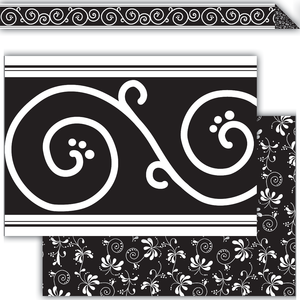 Black Décor Double-Sided Bor..