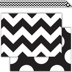 Black & White Chevron Double..