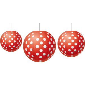 Red Polka Dots Paper Lanterns