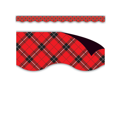 Red Plaid Magnetic Border