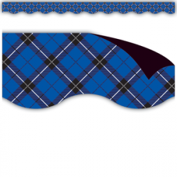 Blue Plaid Magnetic Border
