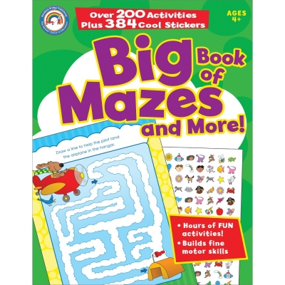 Big Bk Of Mazes & More! Ages 4+