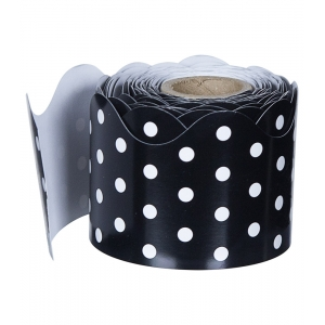 Black & White Dots Scalloped..