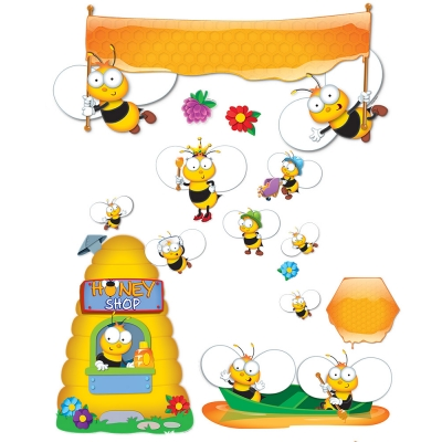 Buzz - Worthy Bees Bulletin Board Set