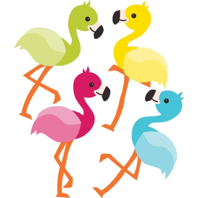 Chool Pop Flamingos Mini Cut - Outs