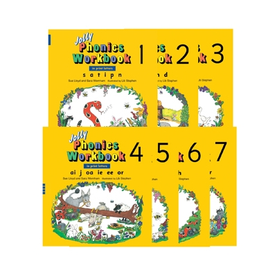Jolly Phonics Workbook Set Book 1 to 7 - Print