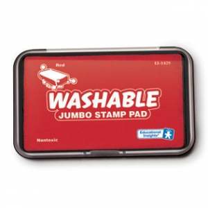 JUMBO WASHABLE STAMP PAD RED