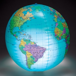 12IN INFLATABLE GLOBE WITH L..