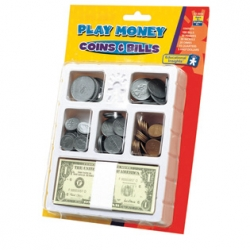 PLAY MONEY - COINS AND BILLS