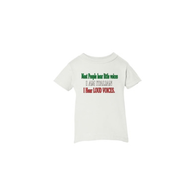 """Most People hear little voices, I'm Italian I hear Loud Voices"" Child T-Shirt"