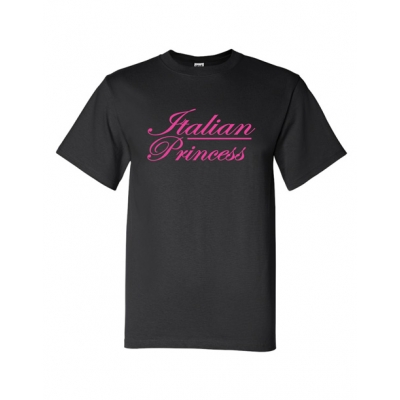 "Girl T-shirt  ""Italian Princess"" Black"