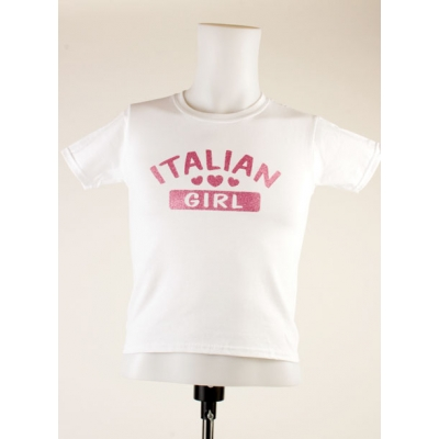 "Girl T-Shirt ""Italian Girl"" white"