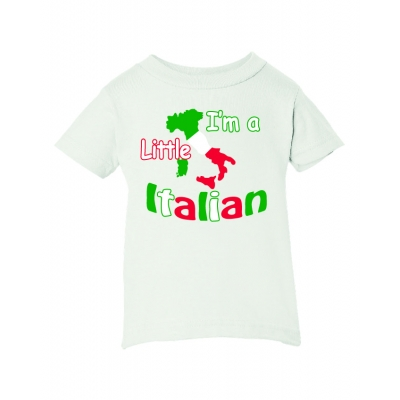 """I'm a little Italian"" Toddler T-shirt White"