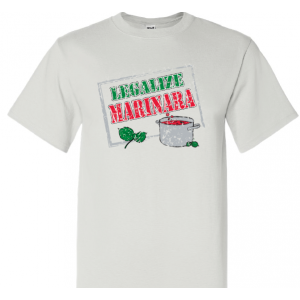 Adult t-shirt 'LEGALIZE MARINARA'
