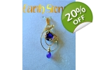 Gold Filled Earth Stone Amethyst Dangle