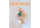 Earth Stones Emerald & Pearl